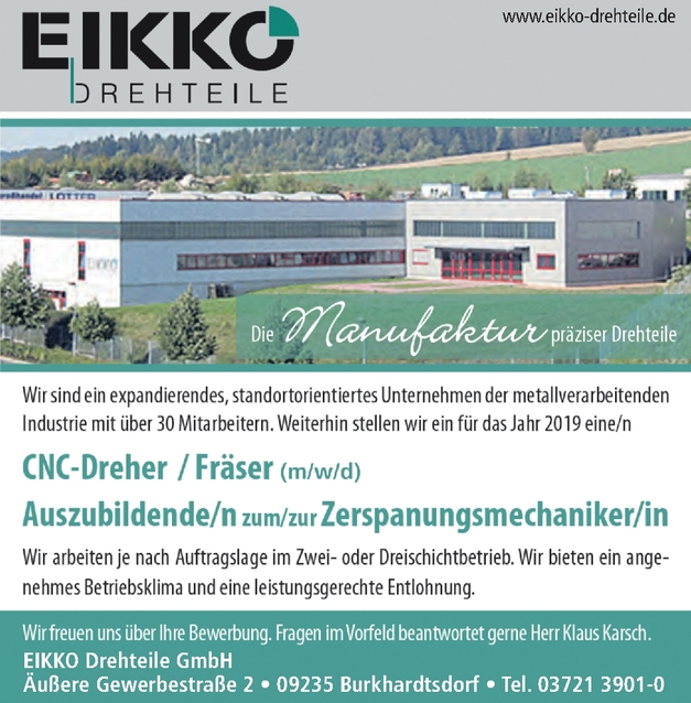 CNC-Dreher/Fräser (m/w/d)