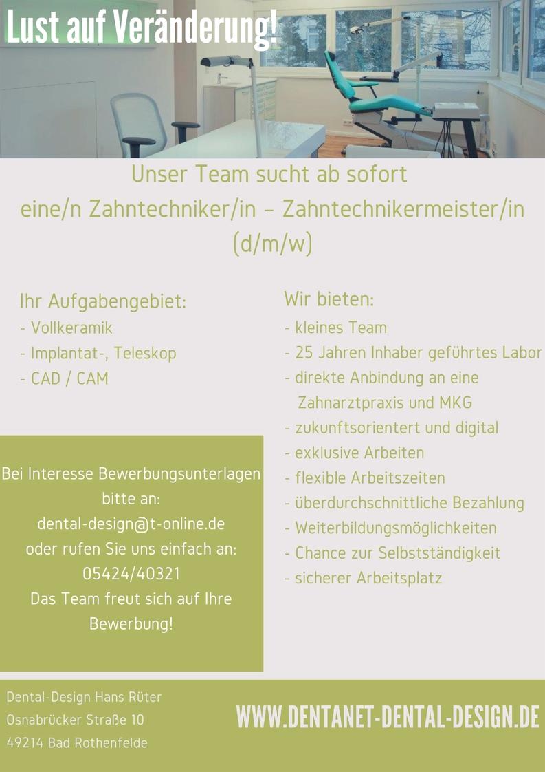 Zahntechnikermeister/in (d/m/w)