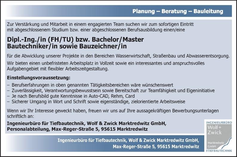 Ingenieur/in - Bau (Tiefbau)