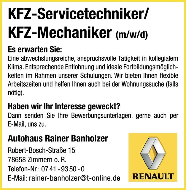 Kfz-Mechaniker/in