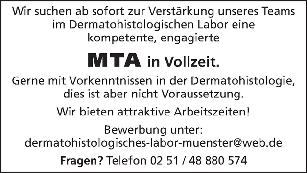 MTA in Vollzeit