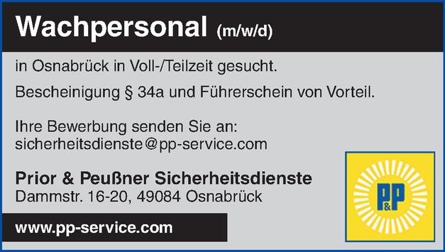 Wachpersonal  (m/w/d)