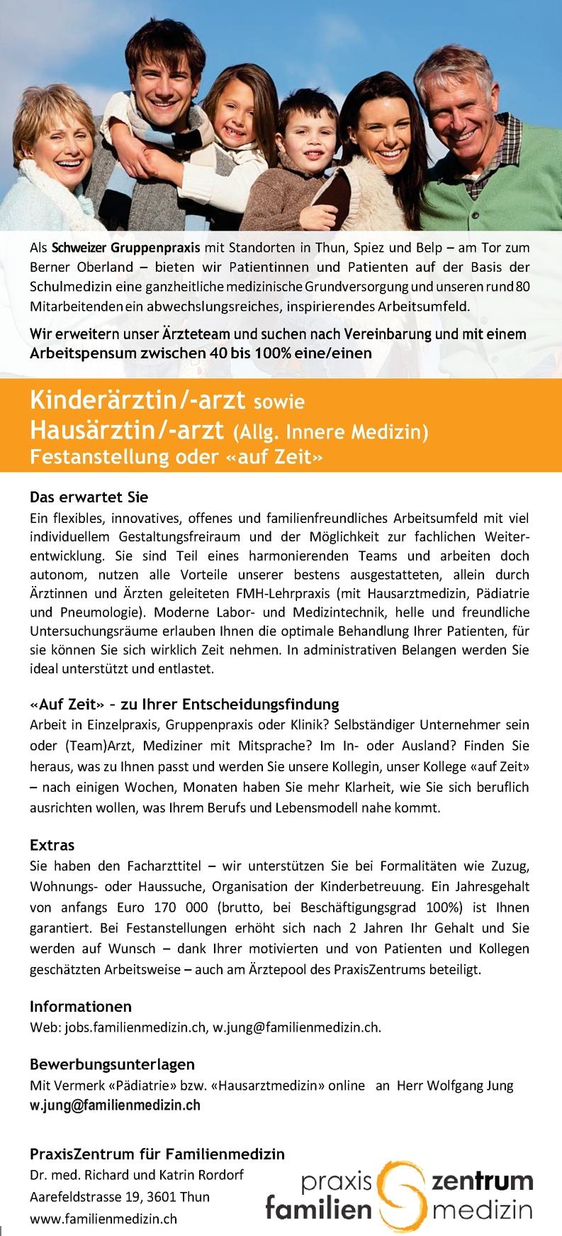 Hausärztin/-arzt (Allg. Innere Medizin)