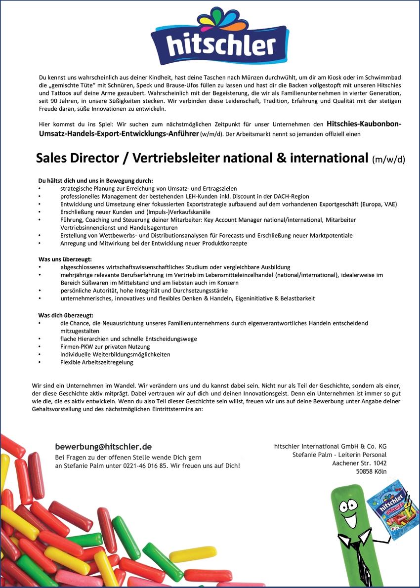 Sales Director / Vertriebsleiter (m/w/d)
