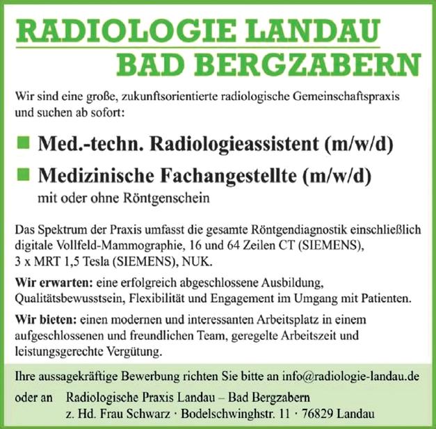 Med.- techn. Radiologieassistent (m/w/d)