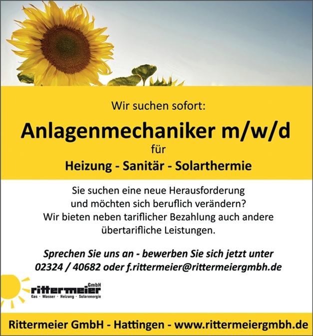 Anlagenmechaniker (m/w/d) für Heizung, Sanitär, Solarthermie
