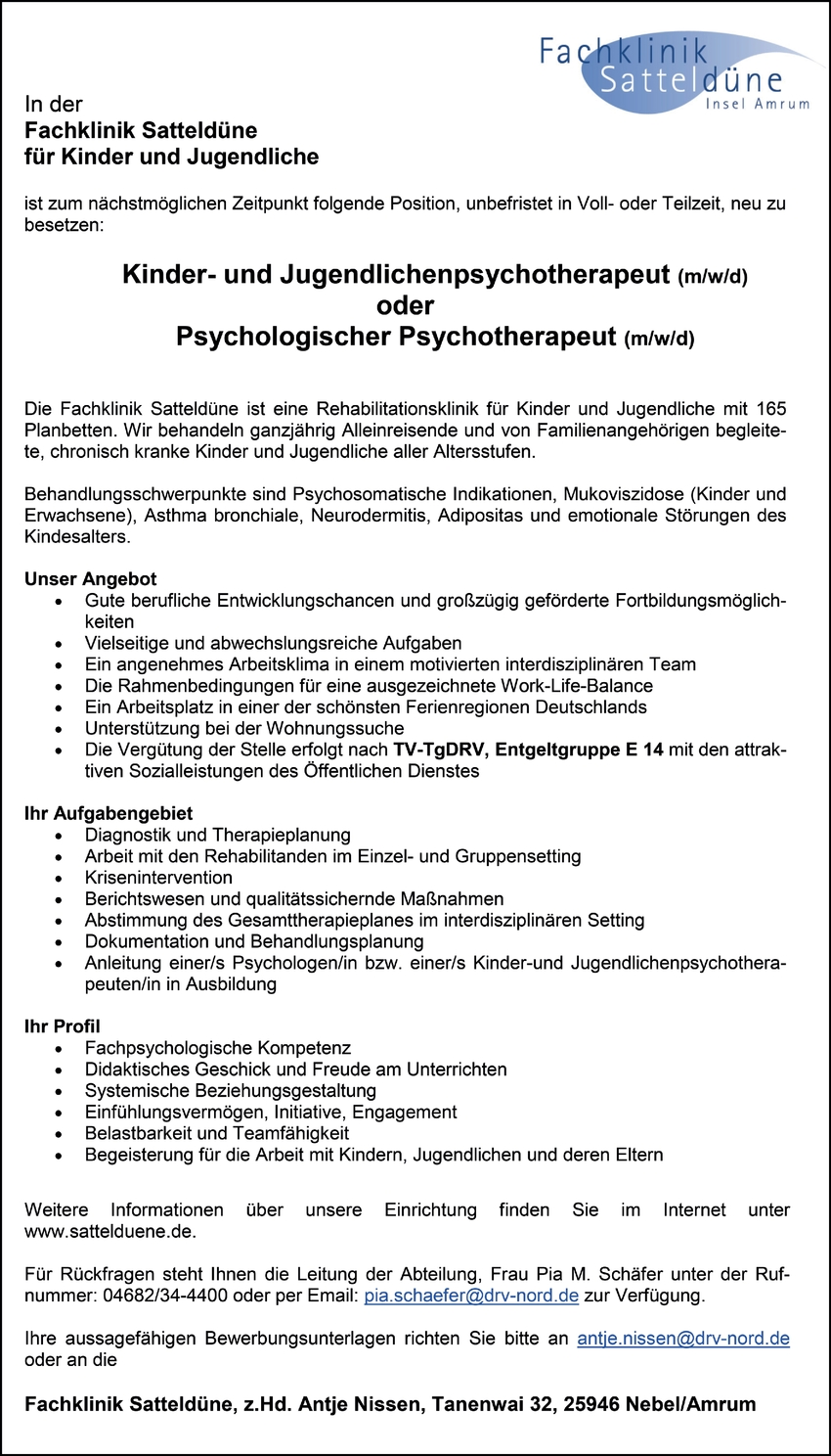 Psychologische/r Psychotherapeut/in