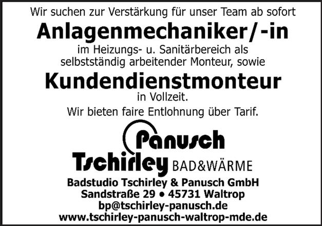 Anlagenmechaniker/in