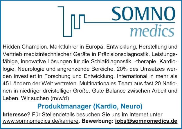 Produktmanager (m/w/d) (Kardio, Neuro)