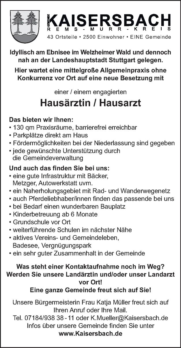 Hausärztin / Hausarzt