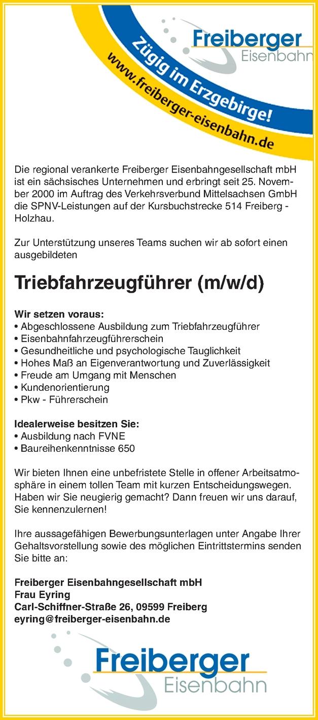 Triebfahrzeugführer (m/w/d)