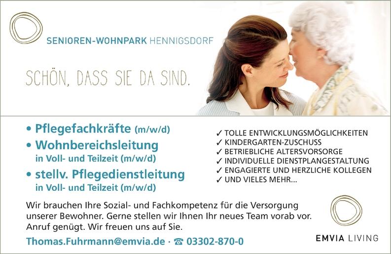 Pflegefachkräfte (m/w/d) Wohnbereichsleitung in Voll- und Teilzeit (m/w/d) stellv. Pflegesienstleitung  (m/w/d)