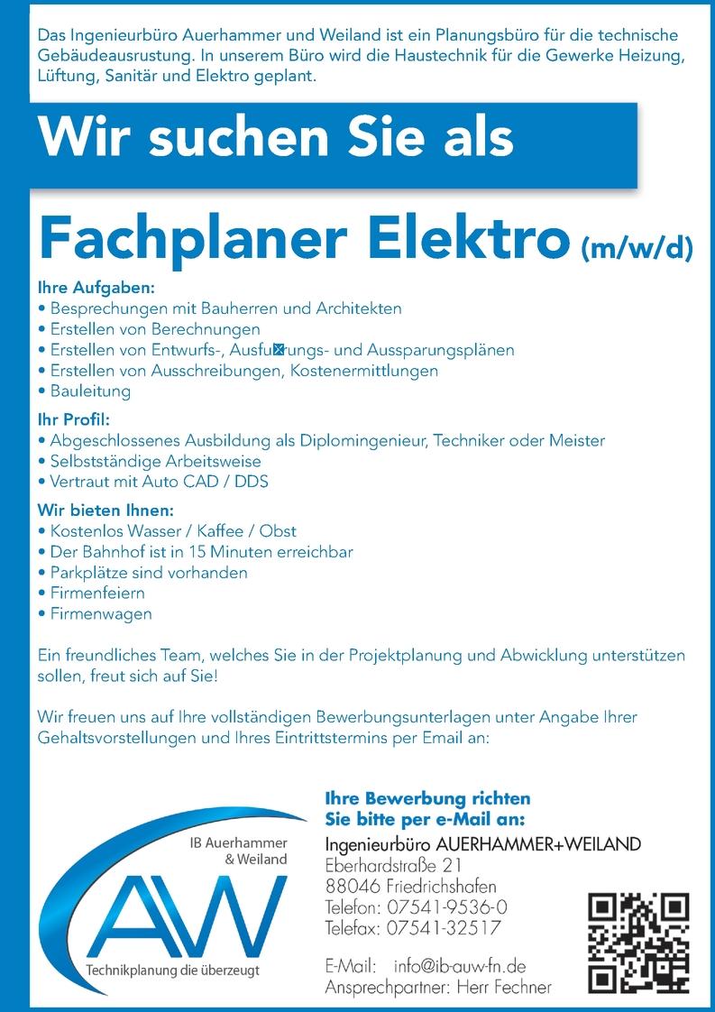 Ingenieur/in - Elektrotechnik