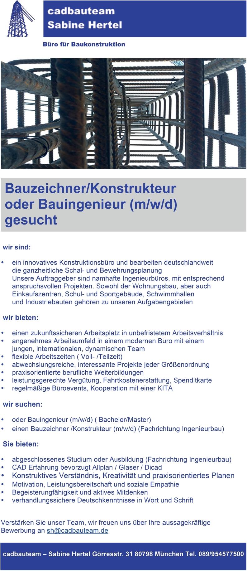Bauingenieur (m/w/d)