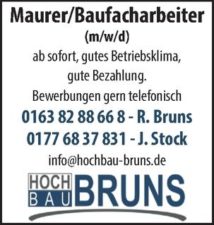 Maurer/Baufacharbeiter (m/w/d)
