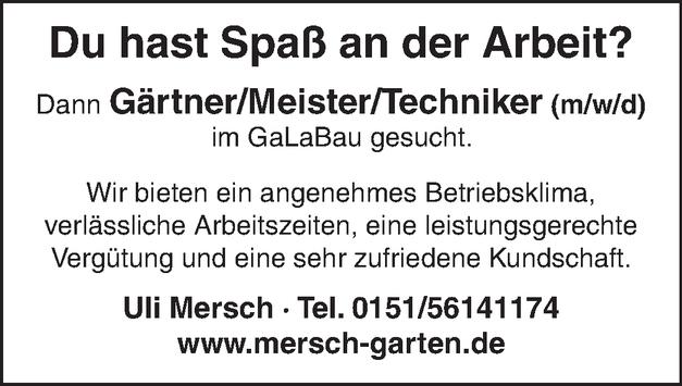 Gärtner-Meister/in