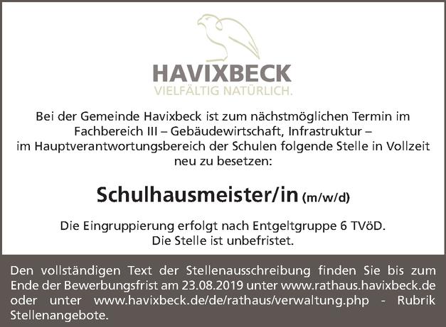 Schulhausmeister/in (m/w/d)