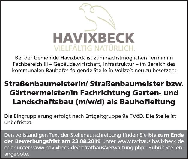 Gärtnermeister/in Garten- und Landschaftsbau (m/w/d) als Bauhofleitung