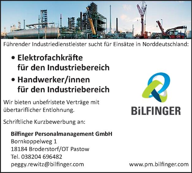 Elektrofachkräfte für den Industriebereich