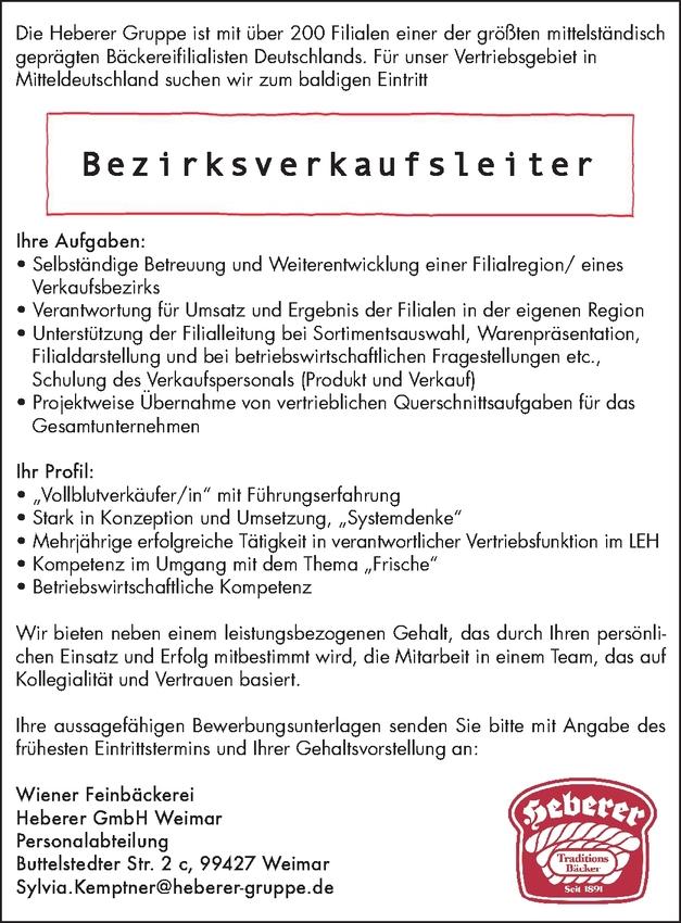 Bezirksverkaufsleiter (m/w/d)