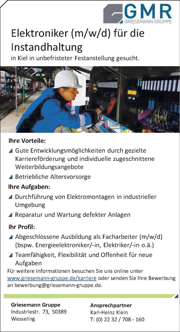 Energieelektroniker/in - Betriebstechnik
