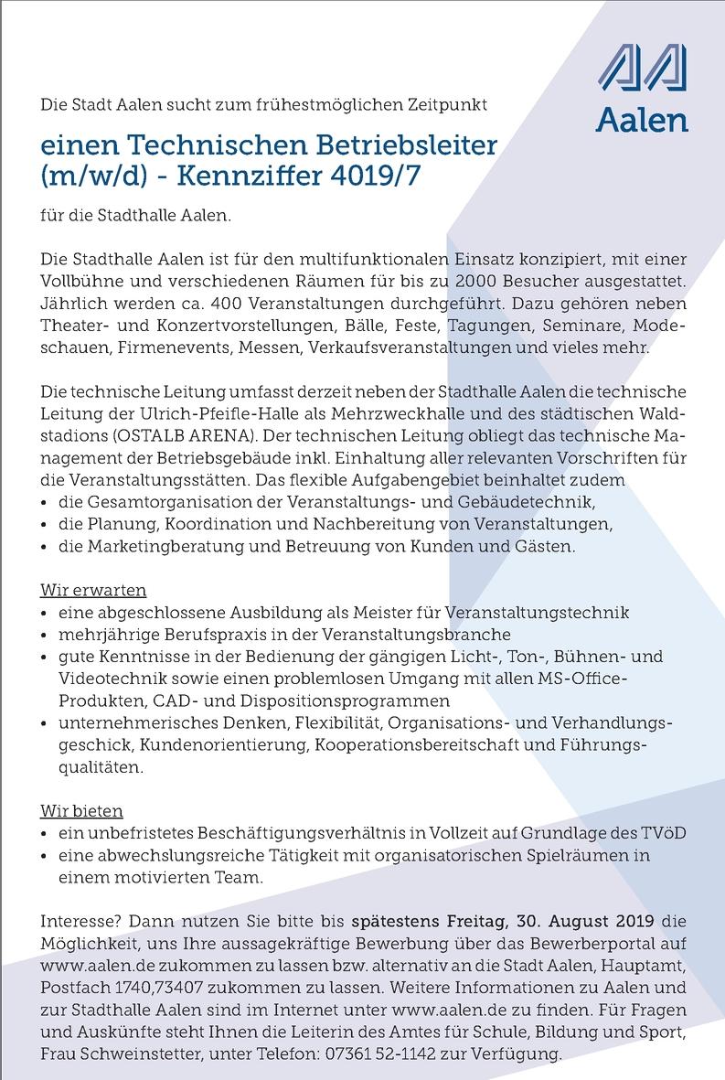 Meister - Veranstaltungstechnik (m/w/d)
