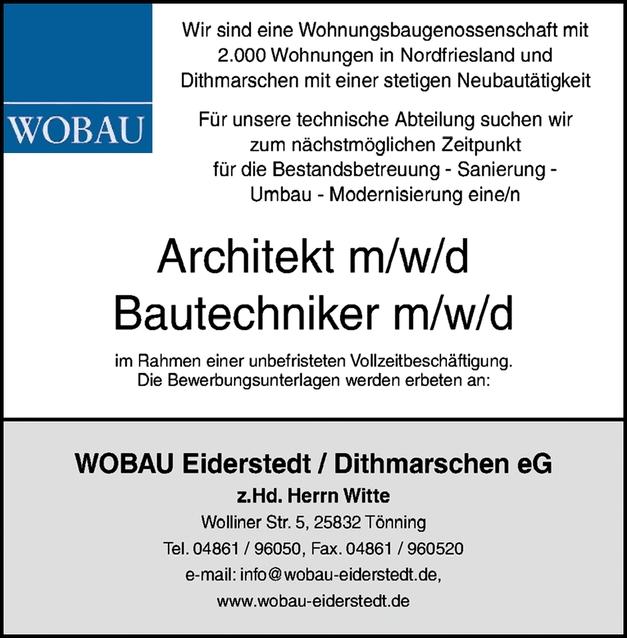 Architekt/ Bautechniker m/w/d