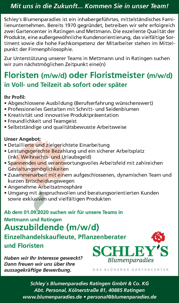 Floristen (m/w/d)
