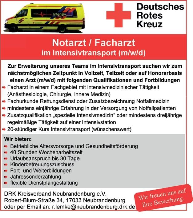 Facharzt/-ärztin - Anästhesiologie