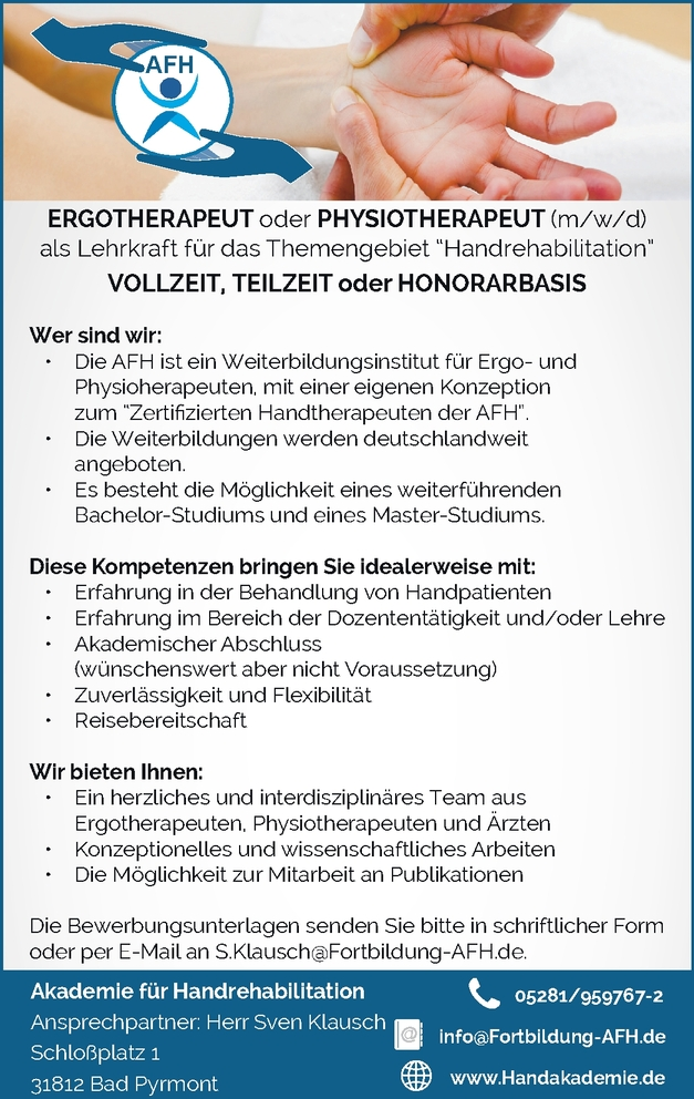 Physiotherapeut/in (m/w/d)