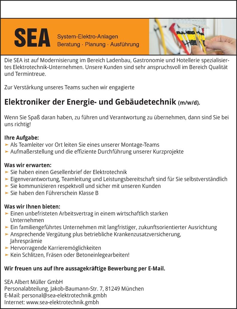 Elektroniker der Energie- und Gebäudetechnik (m/w/d).