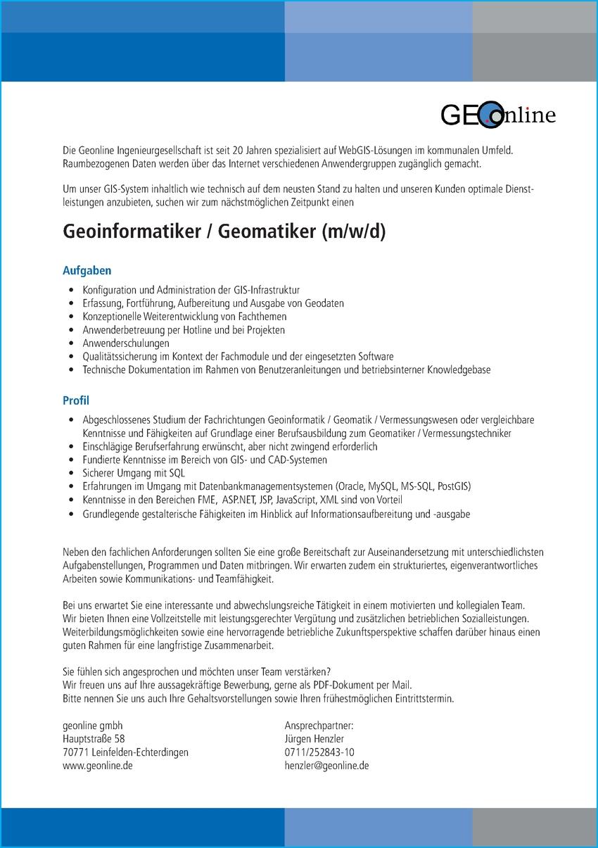 Geomatiker (m/w/d)