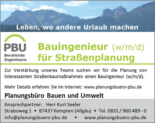 Bauingenieur/in (FS) - Straßenbau