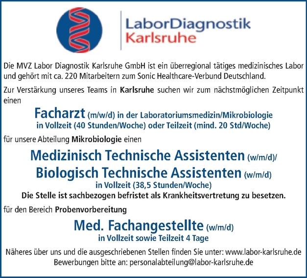 Medizinische Fachangestellte Labor (m/w/d)