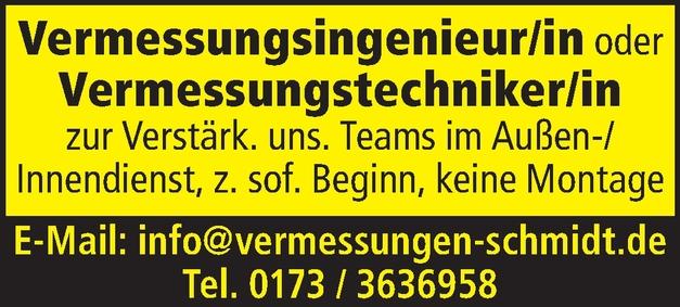 Vermessungstechniker/in