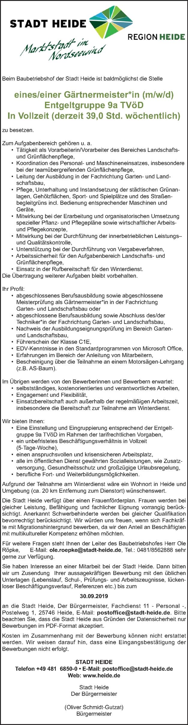 Gärtnermeister ( m/w/d)