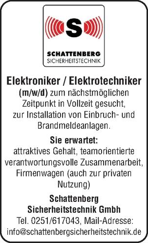 Elektroniker / Elektrotechniker (m/w/d)