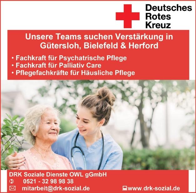 Fachkraft für Psychiatrische Pflege, Fachkraft Palliativ Care, Pflegefachkräfte für Häusliche Pflege (m/w/d)