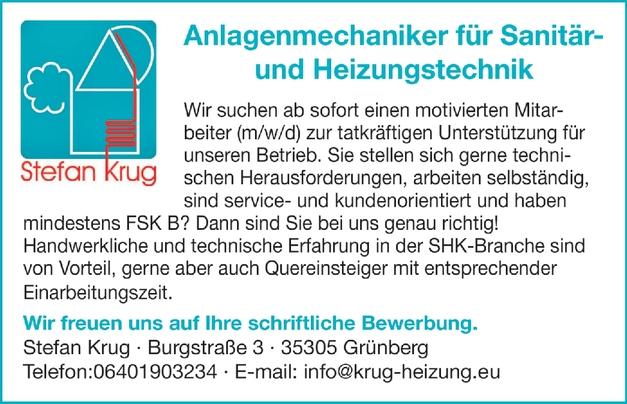 Anlagenmechaniker für Sanitär- und Heizungstechnik