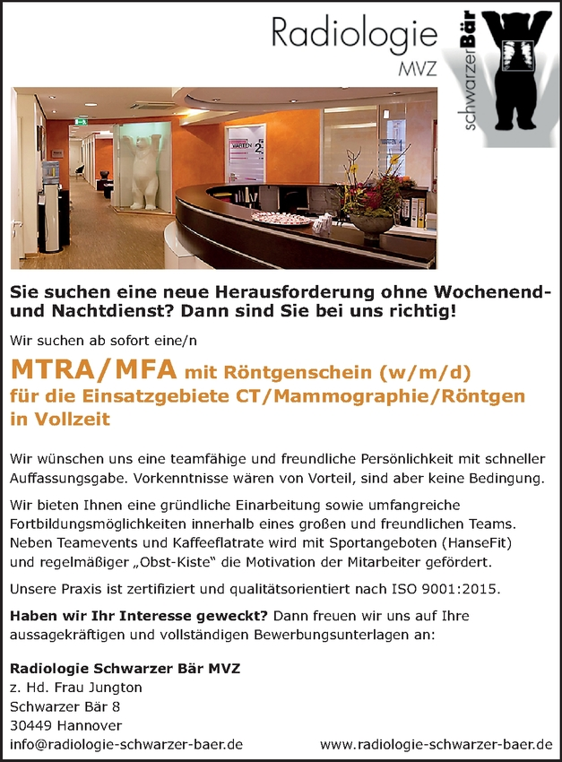 MFA mit Röntgenschein (m/w/d)