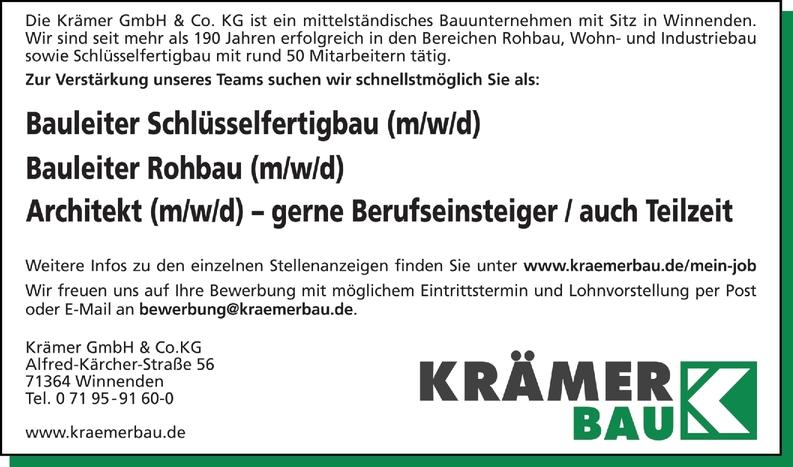 Bauleiter / Schlüsselfertigbau /m/w/d)