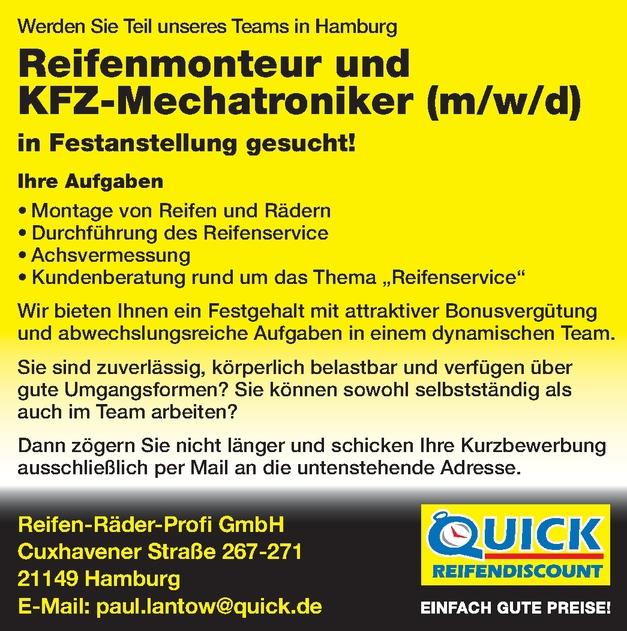 Reifenmonteur/in