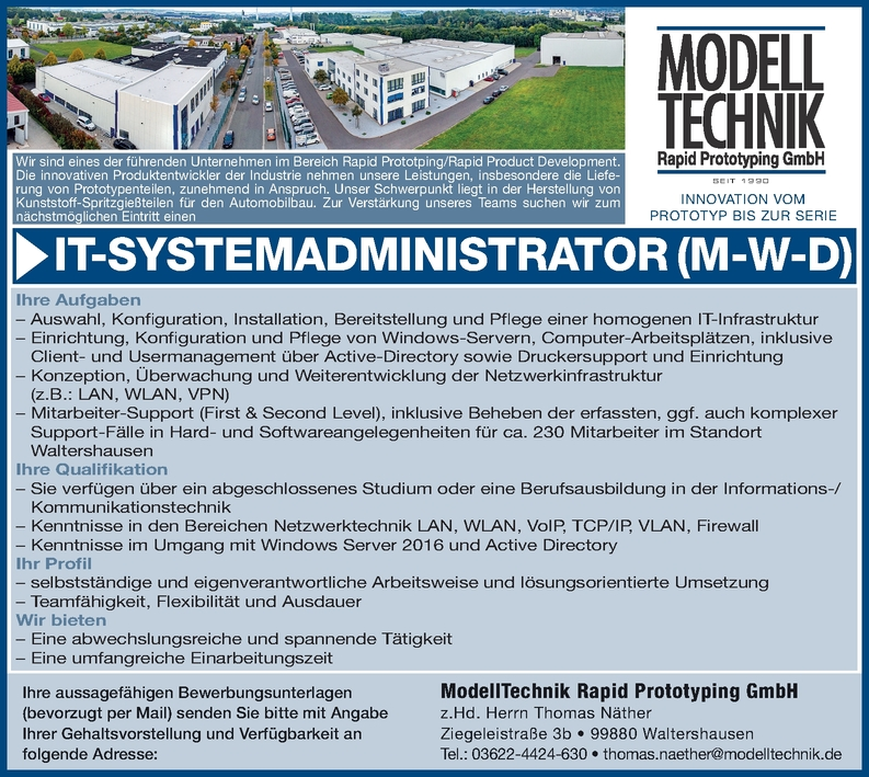 IT-Systemadministrator m/w/d