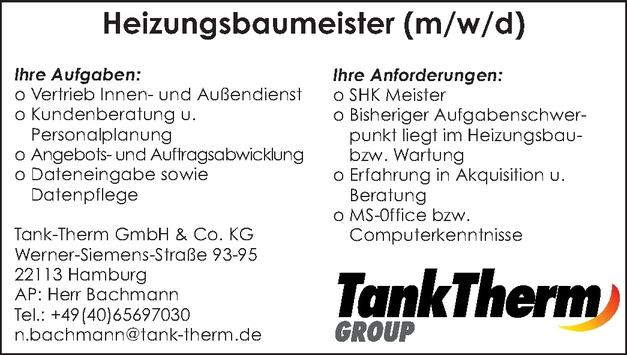 Heizungsbauermeister/in