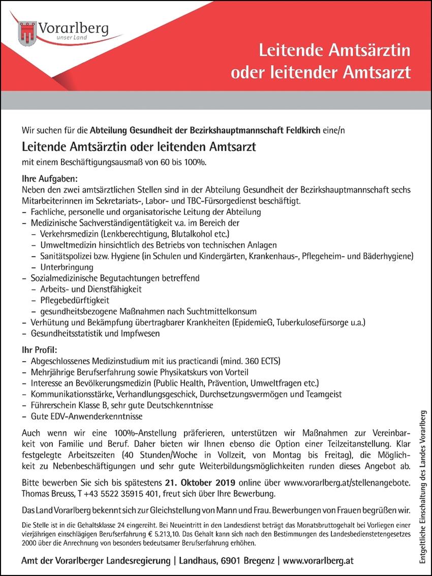 Leitende Amtsärztin/Amtsarzt