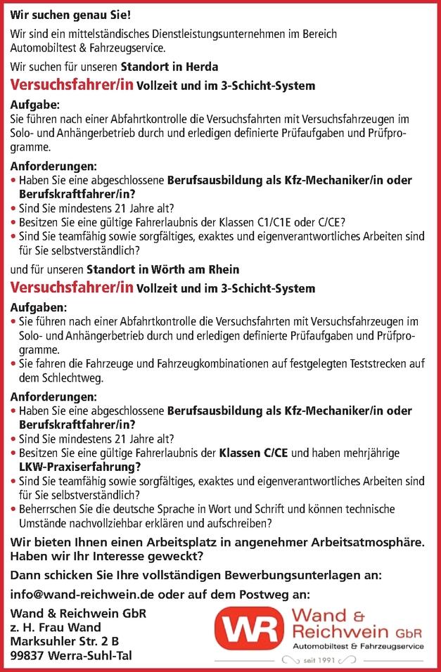 Kfz-Mechatroniker/in FS C1/C1E oder C/CE