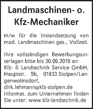 Landmaschinen- o. Kfz-Mechaniker m/w