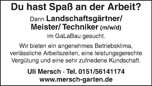 Landschaftsgärtnermeister/in
