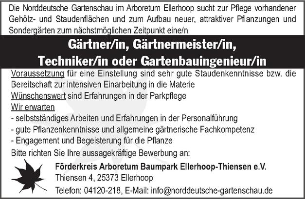 Gärtnermeister/in