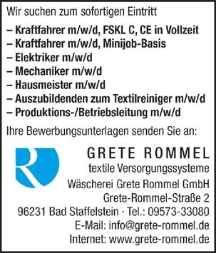 Kraftfahrer m/w/d, FSKL C, CE in Vollzeit